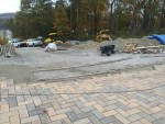 Paverstone driveway being installed
