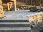 Hardscaping project being installed for a customer